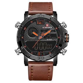 Relógio Naviforce Nf 9134 Funcional Analógico E Digital