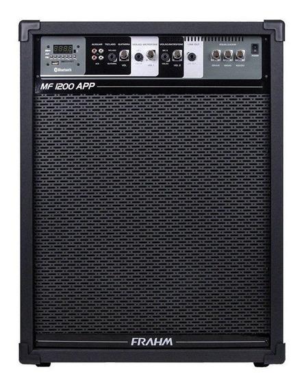 Caixa Amplificadora Mf 1200 App 160w Rms Woofer Bivolt Frahm
