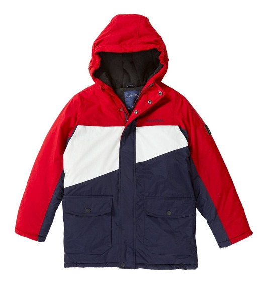Chamarra Nautica Red Rouge Long Jacket Impermeable Original