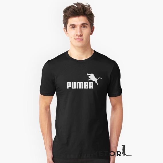 Camisa Camiseta Masculino Blusa Algodão Pumba Puma Divertido