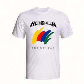 Camisa Helloween Chameleon Camiseta Manga Curta Branca