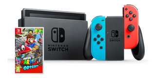 Consola Nintendo Switch Neón + Juego Super Mario Odyssey