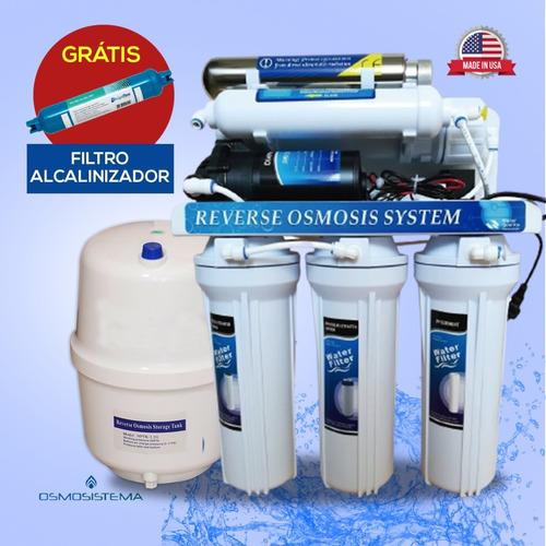 Purificador  Agua Ósmosis Inversa Con 6 Etp Con Uv Y Bomba