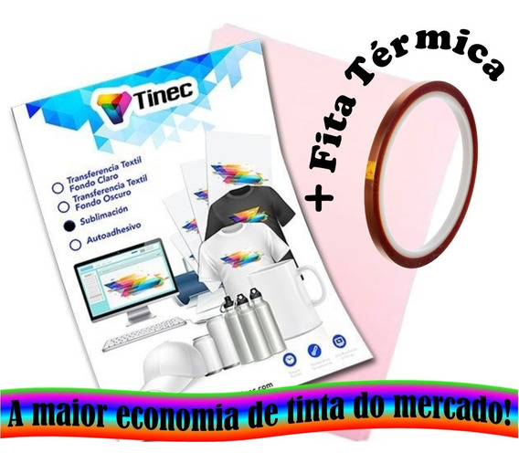 Papel Sublimático Tinec Premium A4 + Fita Térmica