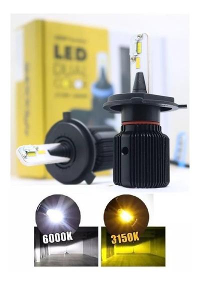 Kit Lâmpada Led Dual Color Shocklight H1 8000 Lum Automotiva