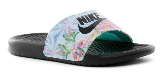 Ojotas Nike Benassi Jdi Floral Print- Mujer