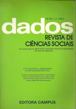 Livro Dados - Revista De Ciências Sociais Vol. 26 Nº 2