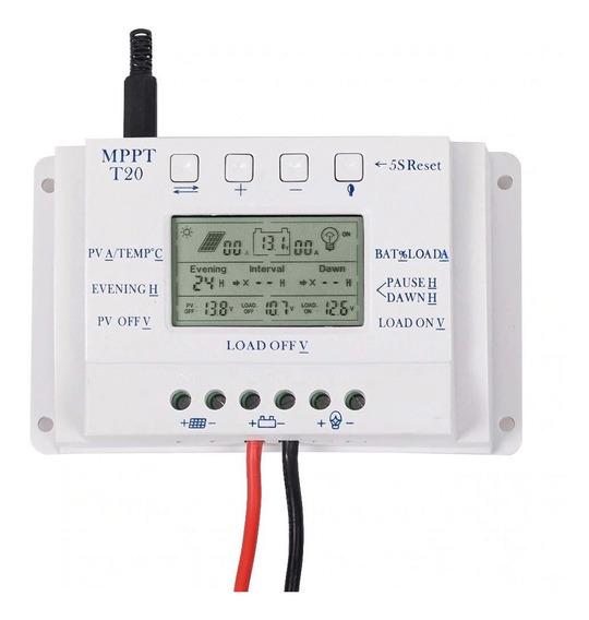 2 Controlador De Carga Solar 20a Mppt 12/24v T20 (off Grid)