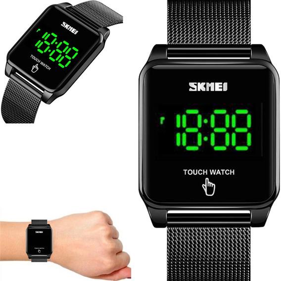 Relógio Unissex Skmei Digital Quadrado Touch 1532 Preto