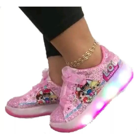 Belloszapatos Deportivos Para Niñas Lop Con Luces