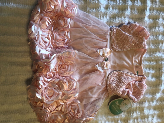 Nannette Baby Vestido Rosa De Festa Menina 12 - 18m 2 Peças