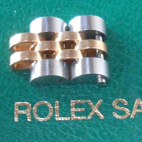 2 Originales Eslabones Rolex Jubilee 10mm De Acero Oro 18k
