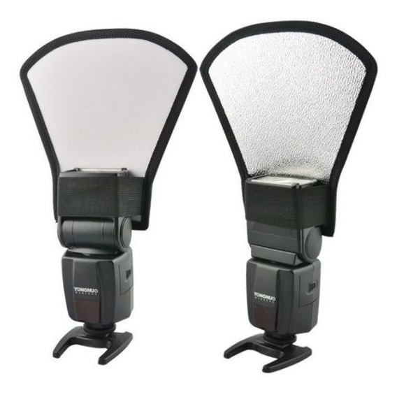 2 Uni Difusor Rebatedor Universal Para Flash Speedlight