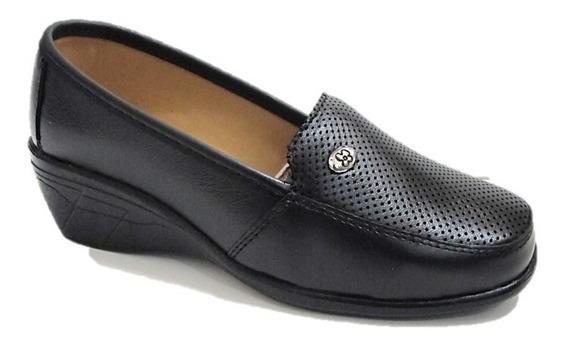 Zapatos De Descanso Mujer Florenza Piel Cómodos 8003
