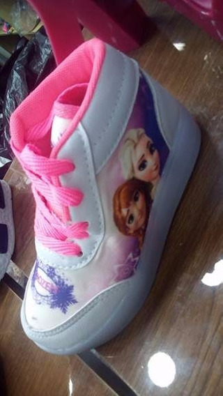 Frozen Tênis Led Botinha Infantil