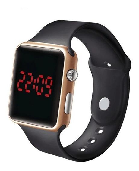 3 Relógio Led Digital Hora E Data Varias Cores