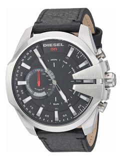 Diesel Hybrid Smartwatchcuero Negro Mega Chief