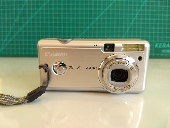 Camera Fotografia Canon Power Shot A400 Com Case E Cabo