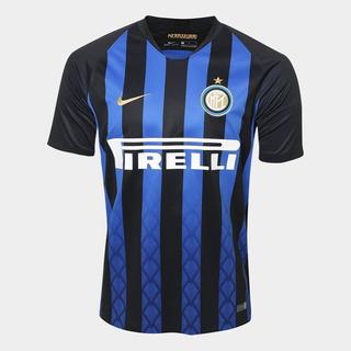 Camisa Inter De Milão Home 2018 S/n° Torcedor Nike Masculina