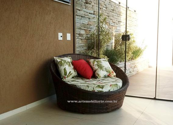 Chaise,concha 1,30cm,fibra Sintética,alumínio - Garden.