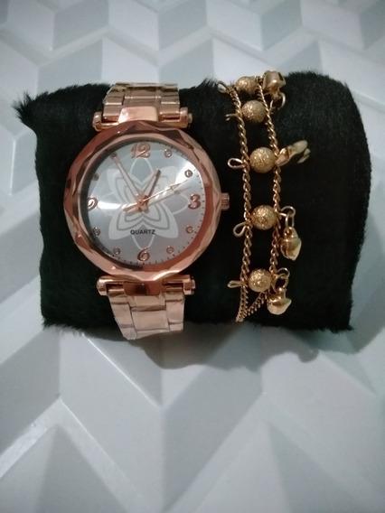 Relógio Femenino Com Pulseira