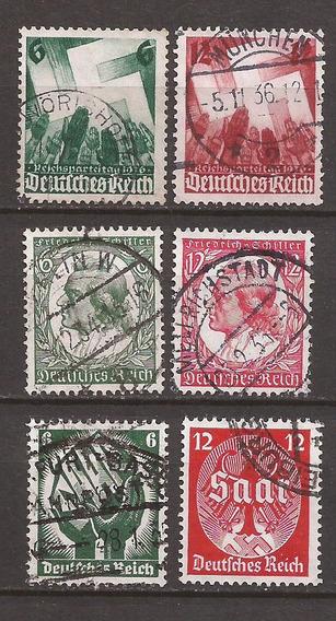 Alemania 1934 Tres Series 6 Sellos Usados Impecables -073