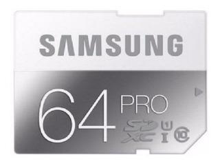 Tarjeta De Memoria Samsung Sd Hc Pro 64 Gb Sin Caja