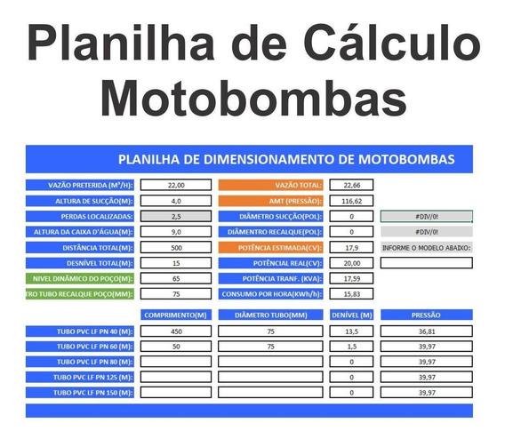 Planilha Calculo De Motobomba - Centrífuga E Submersa 1.2