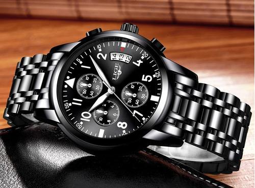 Relógio De Luxo - Masculino Original Lige