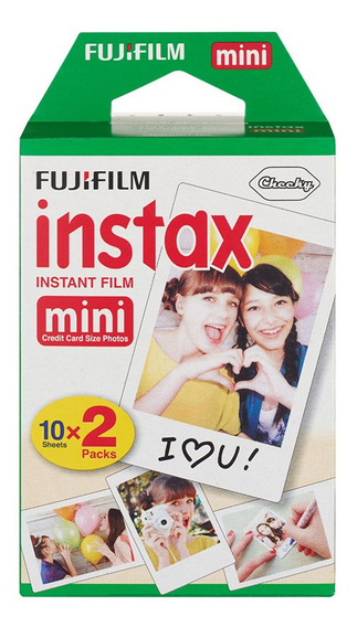 20 Folhas Fujifilm Instax Mini Filme Instax Instax Branco