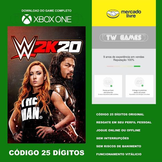 Wwe 2k20 Codigo 25 Digitos Original Xbox One Fat S X
