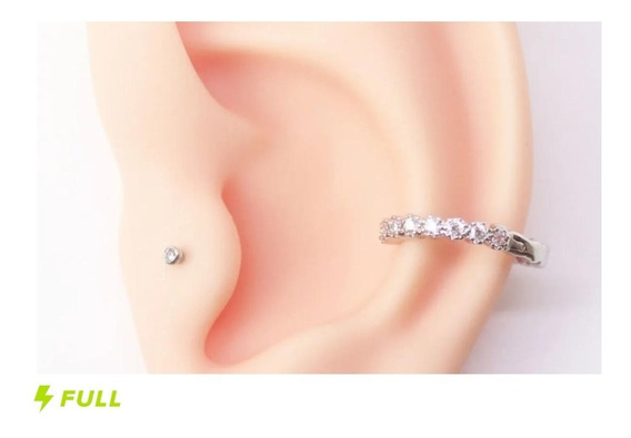 Piercing Conch Clicker Cravejado Lindo