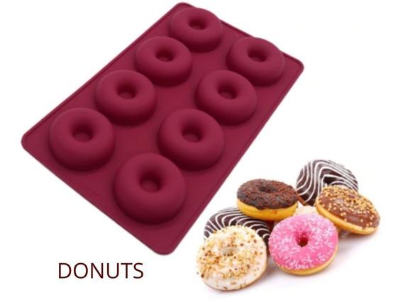 Molde De Silicone Para Donuts 08 Cavidades