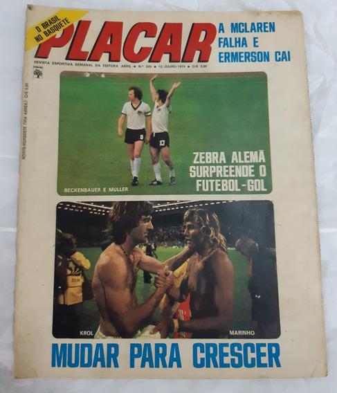 Revista- Placar N 225 Alemanha C. Mundial 1974 Com Escudos