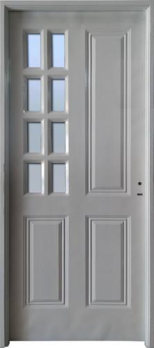 Puerta Exterior Chapa Simple 80 Con Postigo 1/4 Vidrio