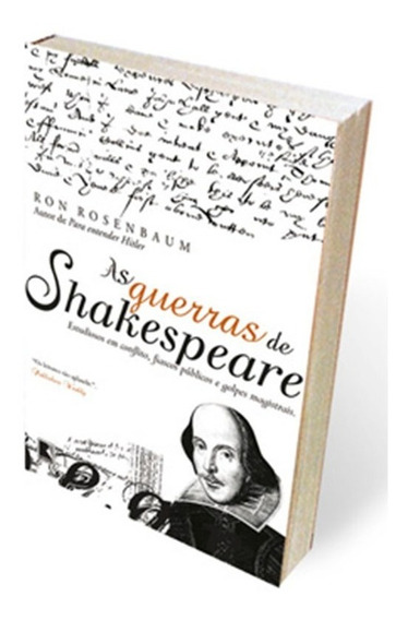 Livro As Guerras De Shakespeare Ron Rosenbaum - Novo