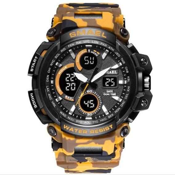 Relógio Masculino Smael 1708 Militar Camuflado Esportivo