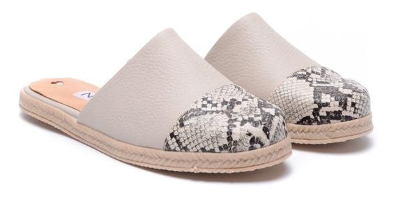 Zapatos Mujer Zuecos Cuero Chatitas Sandalias Heben Calzados