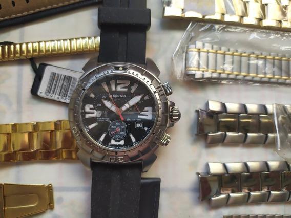 Relógio Sector + De 50 Pulseiras + Pinos + Maquina