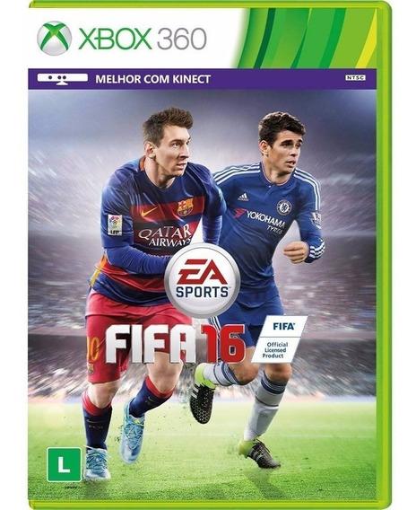 Jogo Fifa 2016 Xbox 360 Mídia Física Original Português