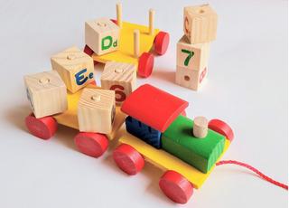 Juguete Tren Madera Didactico Montessori Letras Y Números
