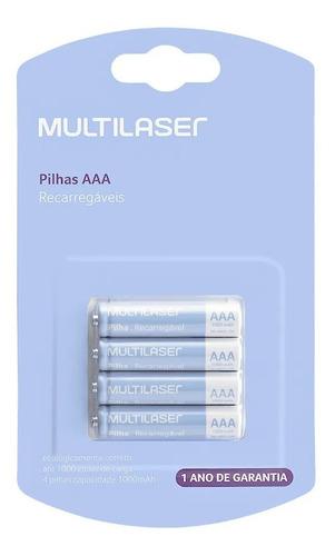 Pilha Recarregavel Multilaser Aaa Com 4 Un - Cb050