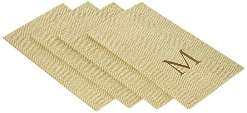 Entertaining With Caspari Jute Herringbone  servilletas De