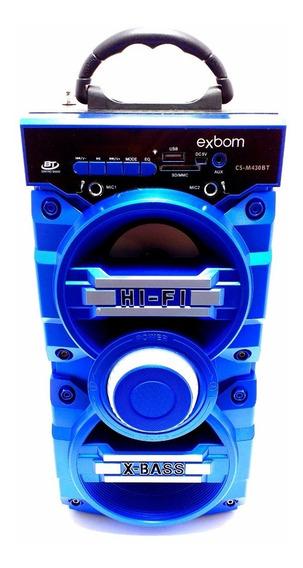 Caixa De Som Amplificada Bateria Usb Mp3 Radio Fm 430bt