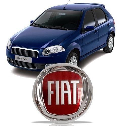 Novo Emblema Fiat Punto 08 09 10 2011 2012 Vermelho Da Grade