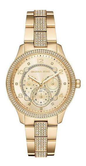Relógio Michael Kors Feminino Runway Dourado Mk6613/1dn