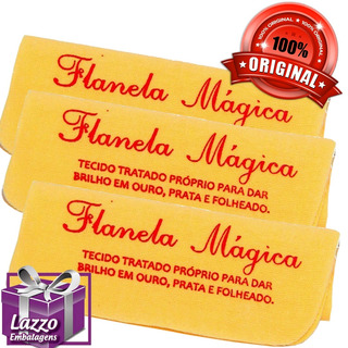 5 Flanela Pano Mágico Limpa Prata Ouro Joias 5 Unid Original