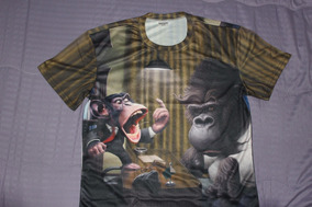 Camisa Donkey Kong 3d