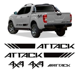 Kit Adesivos Faixa Frontier Attack 4x4 2017 2018 2019 Nissan