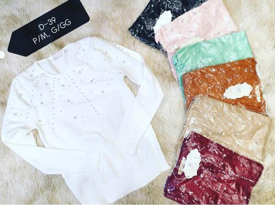 Blusa De Frio Casaquinho Feminino Perolas Suéter Tricot Moda